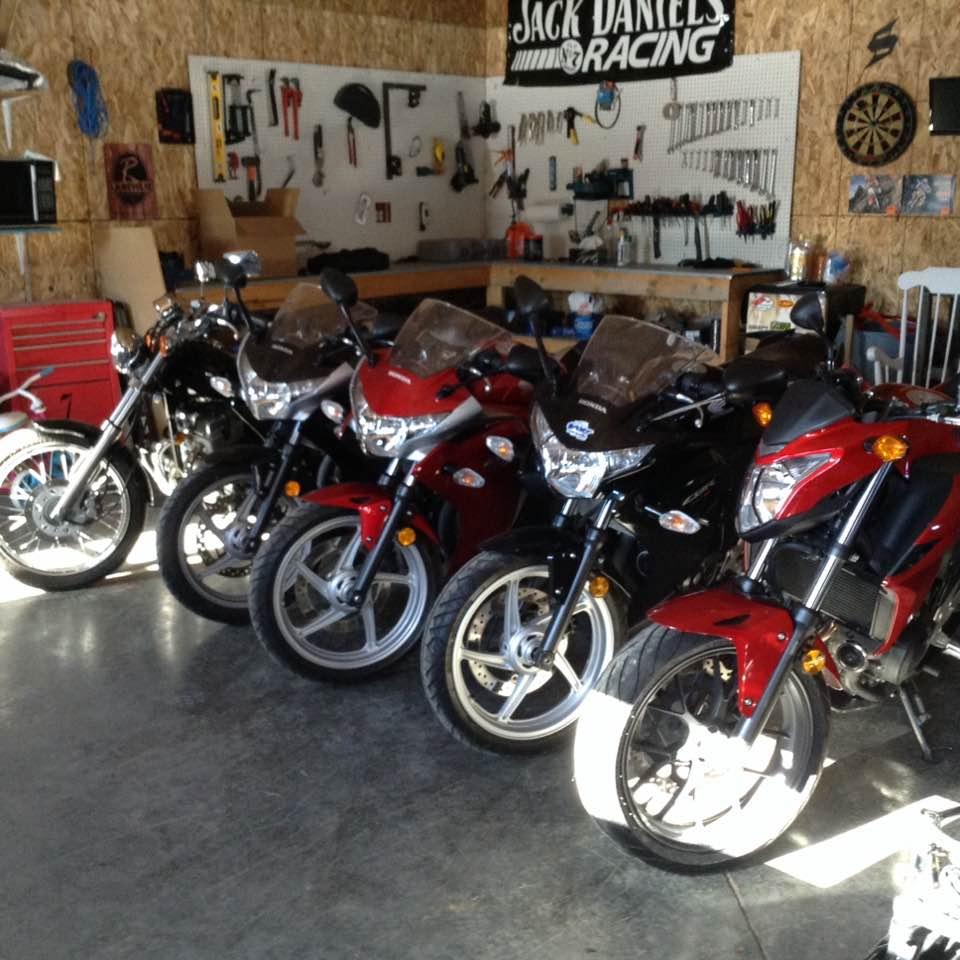 Flotte de motocyclette